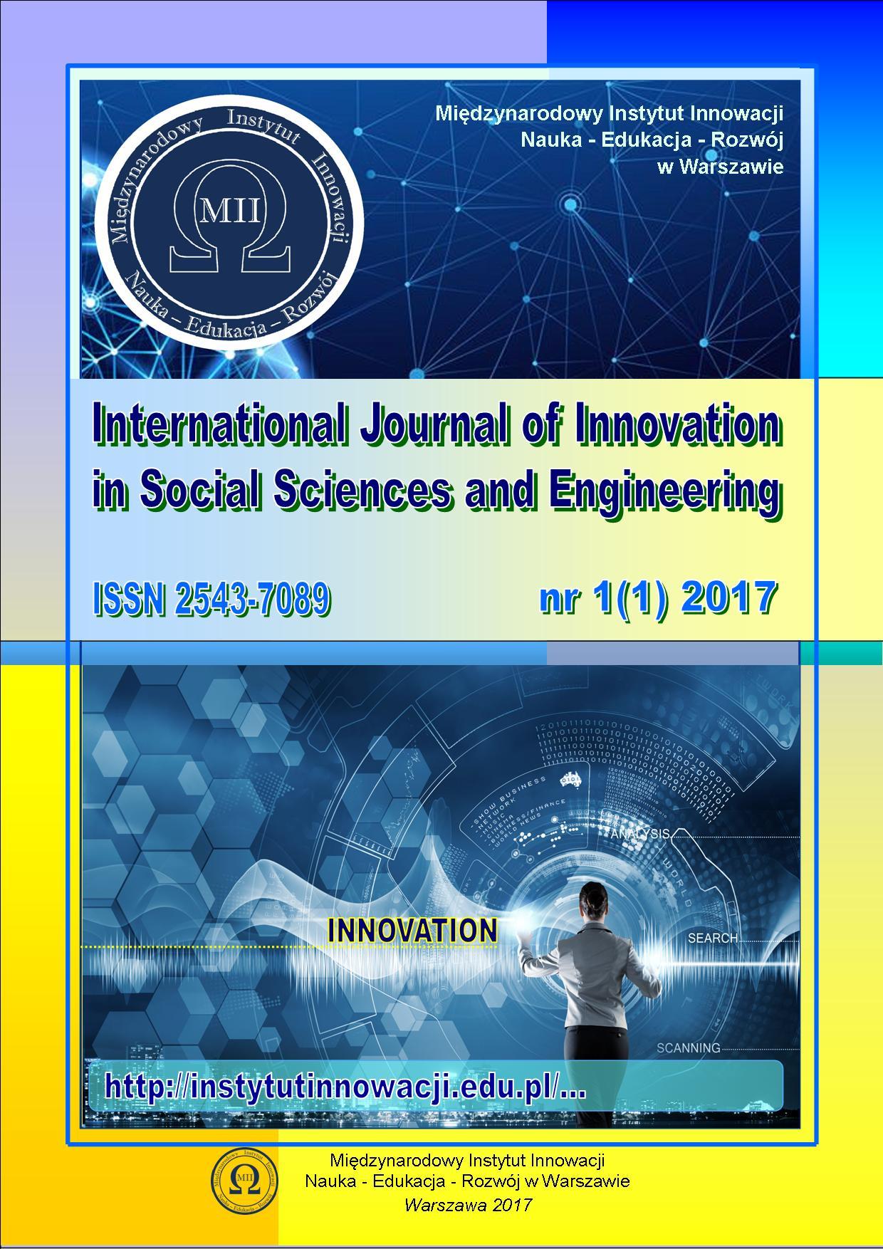 IJISSE - okładka Innowacje ISSN 2543-7089